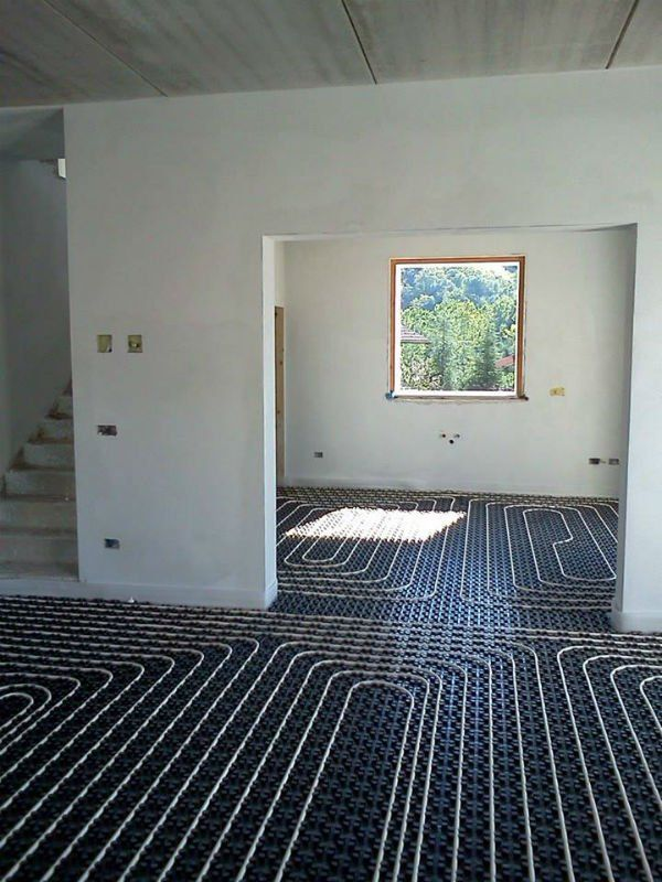 un impianto termoidraulico in una casa