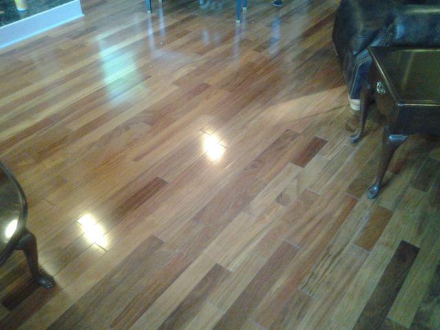 Brazilian Teak Hardwood Flooring Installation J R Floor Covering