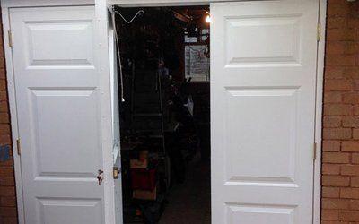 White side hinge door