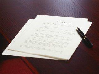 documenti con biro per scrivere