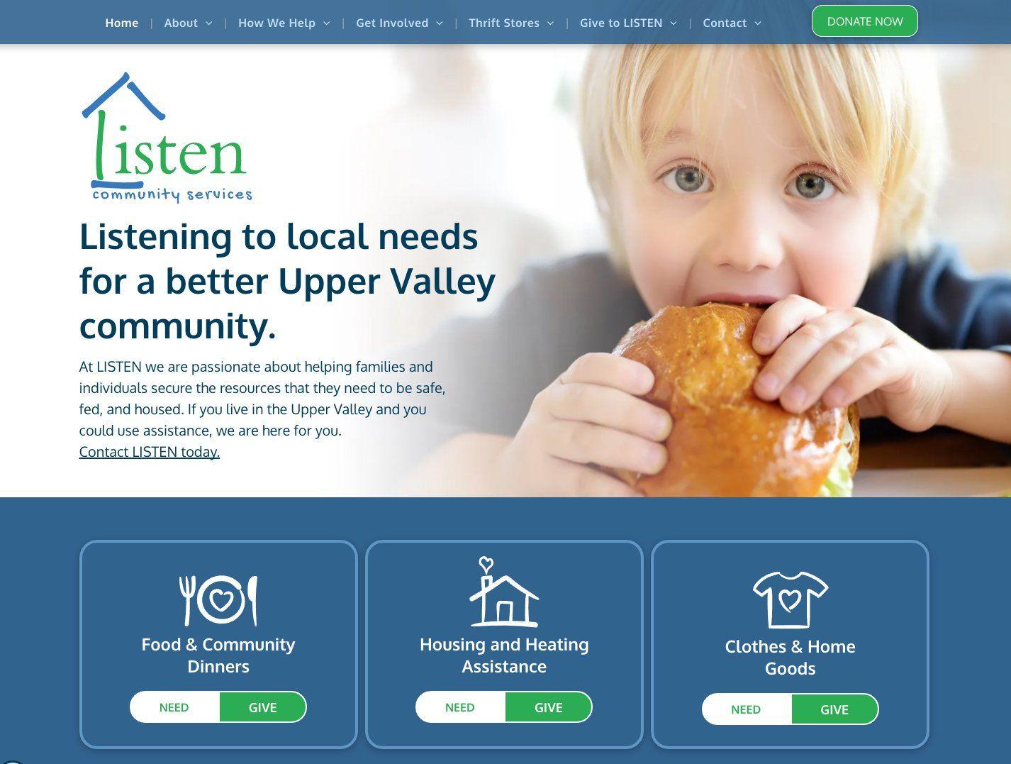 LISTEN Community Services Launches New Web Presence
