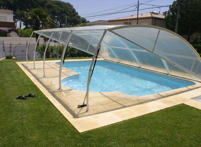 A pool roof