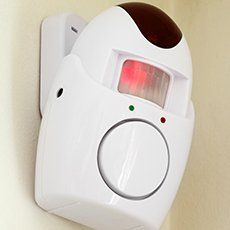 white alarm installation