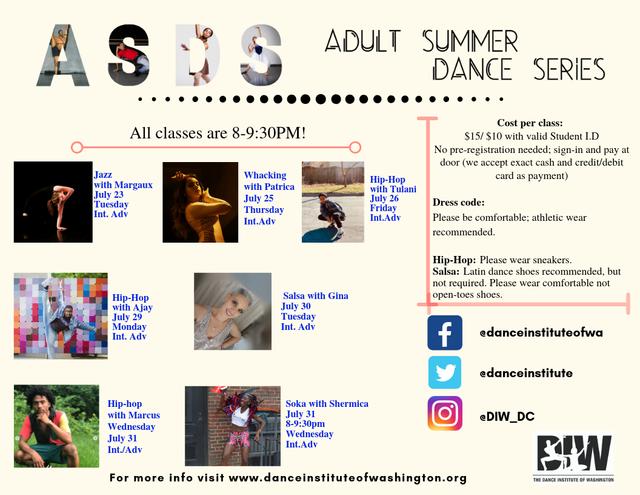 Adult Summer Dance Series