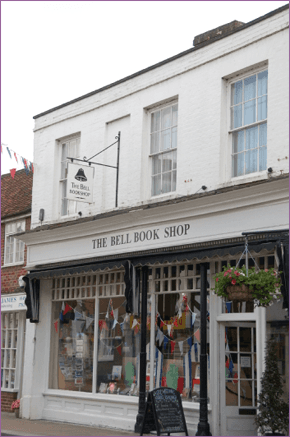 The front of the 18th century shop