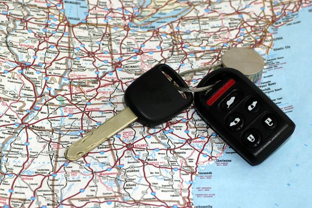 Car keys and a map