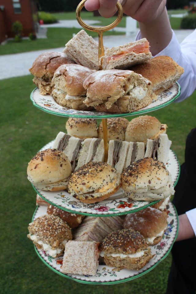 A selection of sandwiches  for our afternoon teas