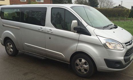 van for airport transfers