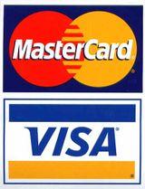 MASTERCARD VISA logos