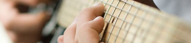 strings of the guitar