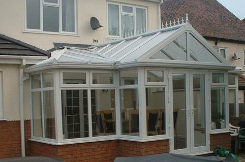 Dining furniture inside a conservatory