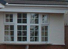 A white bay window