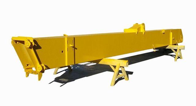 repaired crane in yellow