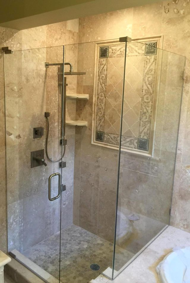 glass shower enclosures bathroom baker glass jacksonville fl yulee fl fernandina beach fl - Glass Enclosures