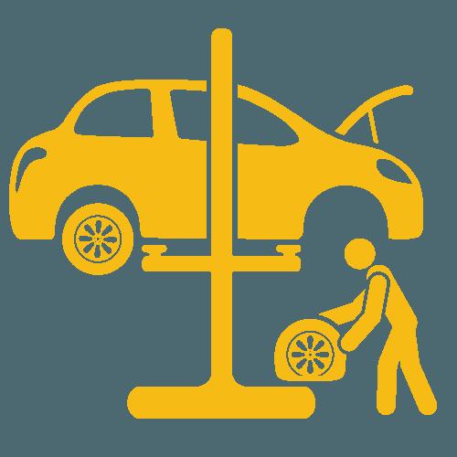 wheel changing icon