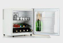 A small drinks fridge