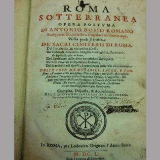Roma sotterranea roma, libreria cesaretti al collegio romano roma, libri antiquariato roma