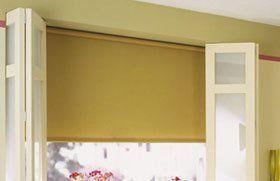 Brown roller blinds