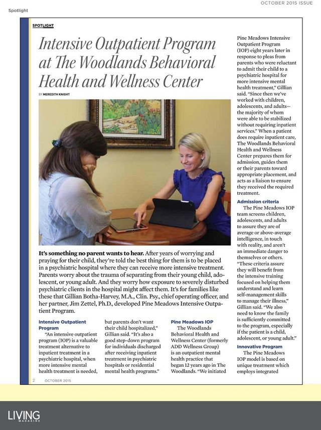 Highlighted Treatment Programs The Woodlands Behavioral Health