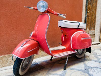 motocicletta rossa