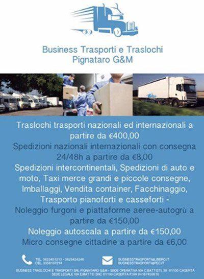locandina di Business Trasporti e Traslochi