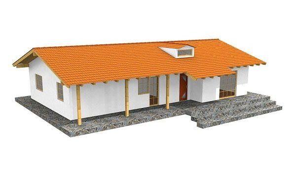 Casa in legno modello DELAIT
