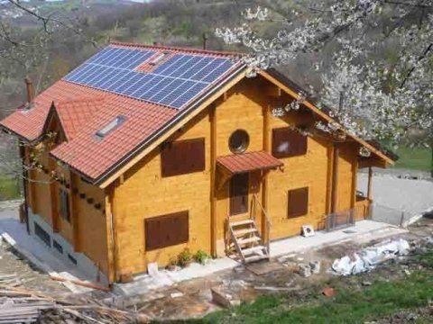 Casa in tronco squadrato
