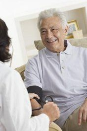 Man with Doctor, In-Home Health Care in Canton, MA
