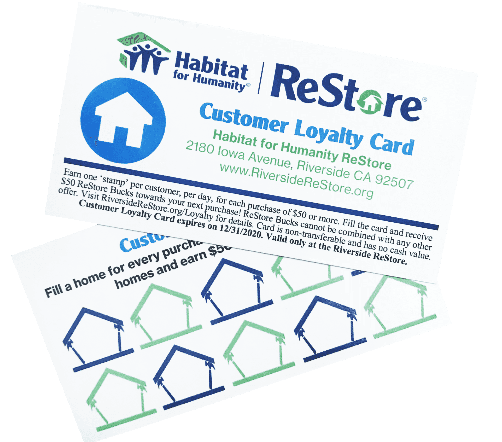 Riverside ReStore Loyalty Card