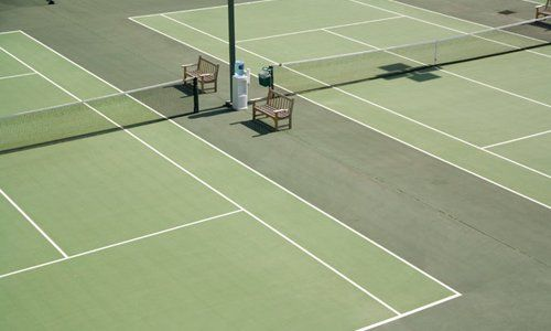 Power washing service for Tennis Court