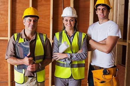 experienced tradies renovating a building