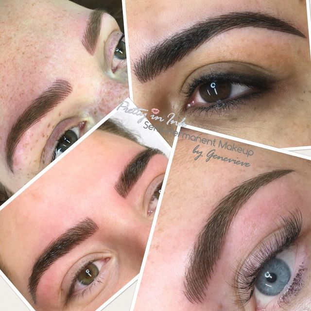 Pretty in Ink semi-permanent eyebrows by Genevieve in Liverpool