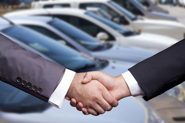 Business people shaking hand in NSW