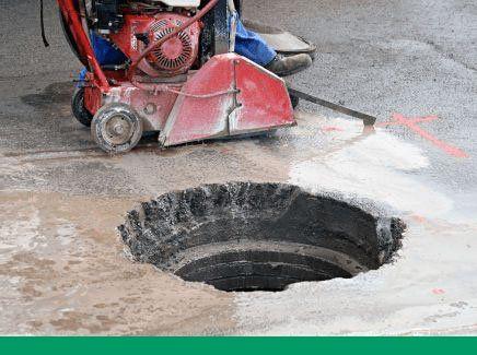 Kwik Cut concrete slab saw