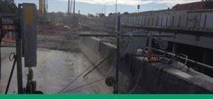 Kwik Cut Gateway Motorway upgrade at Deagon concrete slab saw Gold Coast