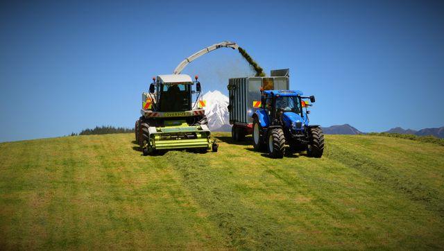 Seed Drilling on a Taranaki property