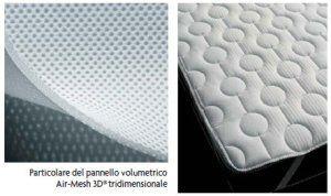 un materasso con un pennello Volumetrico Air Mesh 3D