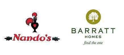 Nando's BARRATT logos