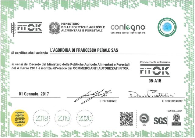 Certificazione di rispetto alla normativa vigente e garanzia di prodotto ecologico