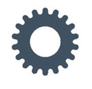 Gray gear icons
