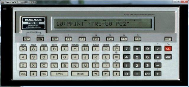 Old Hardware Emulated : Radio Shack Pocket Computers