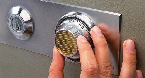 Safe lock opening