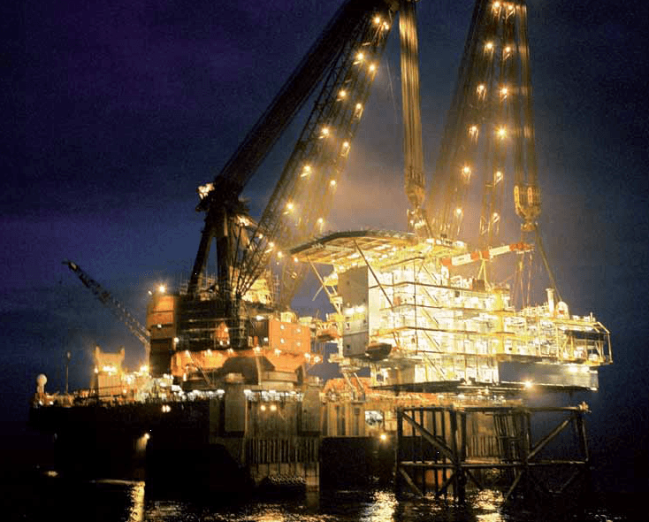 A freight haulage ship