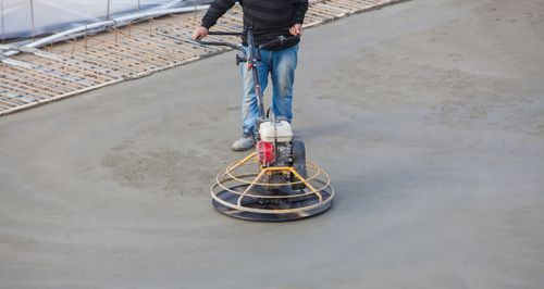 A professional concrete grinding job in Auckland