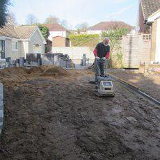 driveway area renovation