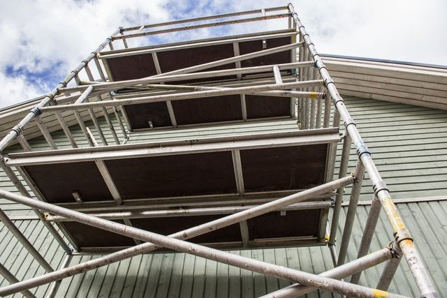 scaffolding and staircases