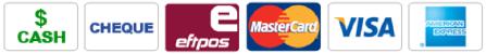 cash, cheque, eftpos, mastercard, visa, amex cards