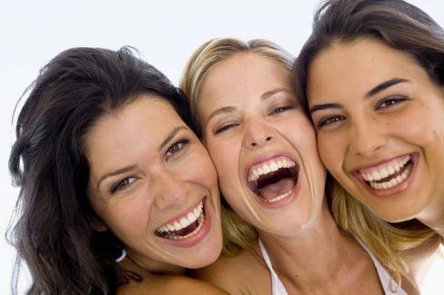 group of happy females