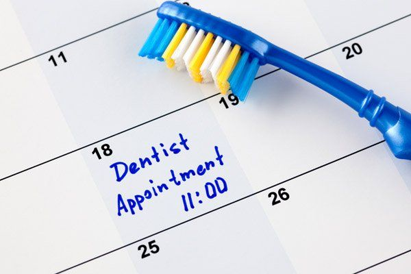 toothbrush on appointment date calander