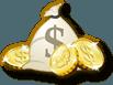 Icona con un sacco di monete